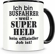 Samunshi® Ich bin Busfahrer Tasse Beruf Geschenk