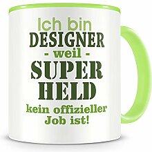Samunshi® Ich bin Designer Tasse Beruf Geschenk