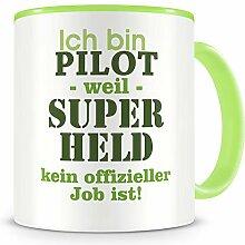 Samunshi® Ich bin Pilot Tasse Beruf Geschenk