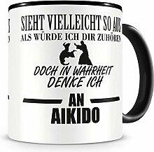 Samunshi® Ich denke an Aikido Tasse Kaffeetasse