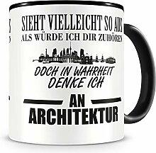 Samunshi® Ich denke an Architektur Tasse