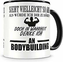 Samunshi® Ich denke an Bodybuilding Tasse