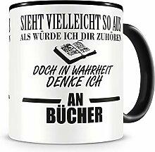 Samunshi® Ich denke an Bücher Tasse Kaffeetasse