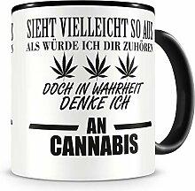 Samunshi® Ich denke an Cannabis Tasse Kaffeetasse