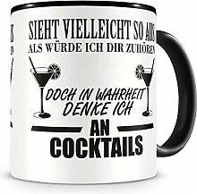 Samunshi® Ich denke an Cocktails Tasse