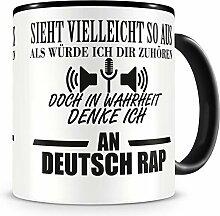 Samunshi® Ich denke an Deutsch Rap Tasse