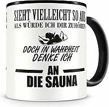Samunshi® Ich denke an die Sauna Tasse