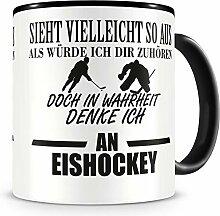 Samunshi® Ich denke an Eishockey Tasse