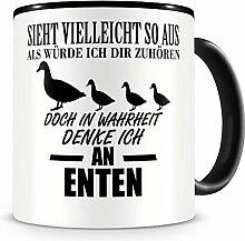 Samunshi® Ich denke an Enten Tiere Tasse