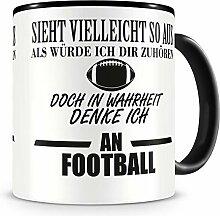 Samunshi® Ich denke an Football Tasse Kaffeetasse
