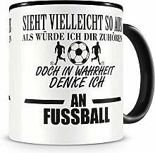 Samunshi® Ich denke an Fussball Tasse Kaffeetasse