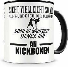 Samunshi® Ich denke an Kickboxen Tasse
