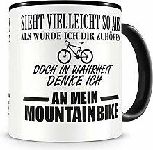 Samunshi® Ich denke an mein Mountainbike Tasse