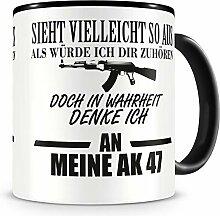 Samunshi® Ich denke an meine AK 47 Tasse