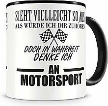 Samunshi® Ich denke an Motorsport Tasse