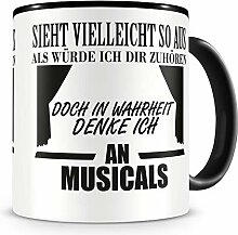 Samunshi® Ich denke an Musicals Tasse Kaffeetasse