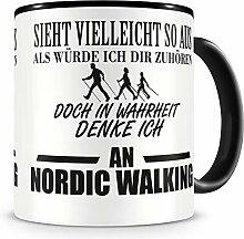 Samunshi® Ich denke an Nordic Walking Tasse
