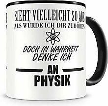 Samunshi® Ich denke an Physik Tasse Kaffeetasse