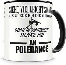 Samunshi® Ich denke an Poledance Tasse