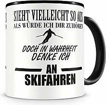 Samunshi® Ich denke an Skifahren Tasse