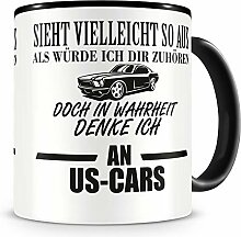 Samunshi® Ich denke an US Cars Tasse Kaffeetasse