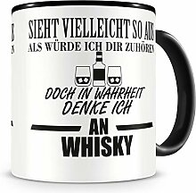Samunshi® Ich denke an Whisky Tasse Kaffeetasse