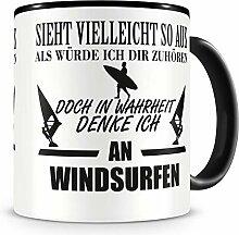 Samunshi® Ich denke an Windsurfen Tasse