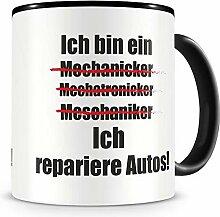 Samunshi® Ich repariere Autos Tasse Kaffeetasse