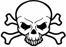 Samunshi® Piraten Totenkopf Aufkleber Skull