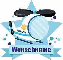 Samunshi® Polizei Hubschrauber Wandtattoo