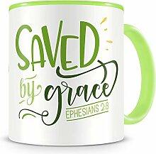 Samunshi® Saved By Grace Tasse Glaube Jesus