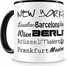 Samunshi® Städtenamen weltweit Tasse Kaffeetasse