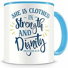 Samunshi® Strength And Dignity Tasse Glaube Jesus
