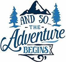 Samunshi The Adventure Begins Schriftzug Aufkleber