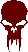 Samunshi® Vampir Totenkopf Aufkleber