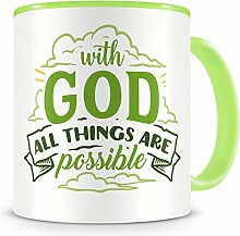 Samunshi® With God All Things Are Possible Tasse