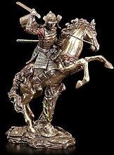 Samurai Figur - Krieger auf Pferd im Kampf  