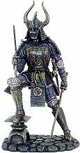 Samurai in Bronze Figur mit Rüstung