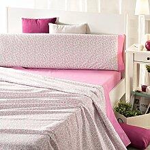 San Carlos Mariela Bettwäsche Online bedruckt, aus Polycotton, Pink, Einzelbett, 195x 90x 2cm