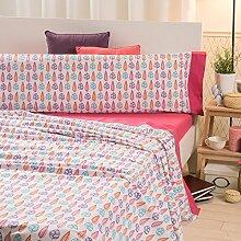 San Carlos Wald Bettwäsche Online bedruckt, aus Polycotton, Pink, Einzelbett, 195x 90x 2cm