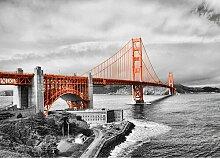 San Francisco Bridge Fotodruck in Orange