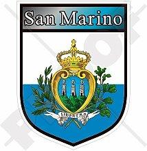 SAN MARINO Schild 100mm Auto & Motorrad Aufkleber,
