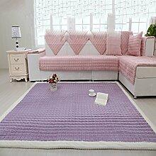 SAN QIAN WAN- Teppich Kinderzimmer Klettermatte Schlafzimmer Voll Teppichboden Wohnzimmer Rechteckiger Teppich Garderobe Matte Teppich ( Farbe : Lila , größe : 180x210cm )