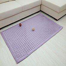 SAN QIAN WAN- Teppich Kinderzimmer Klettermatte Schlafzimmer Voll Teppichboden Wohnzimmer Rechteckiger Teppich Garderobe Matte Teppich ( Farbe : Lila , größe : 60x180cm )