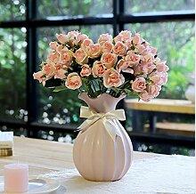 San Tai@Blume Zuhause Hochzeit Garten Dekoration,Lieferinhalt:Enthält eine Flasche-33cmx30cm