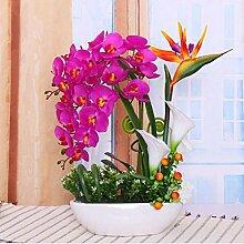 San Tai@Blume Zuhause Hochzeit Garten Dekoration,Lieferinhalt:Enthält eine Flasche-55x51cm
