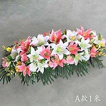 San Tai@Blume Zuhause Hochzeit Garten Dekoration,Lieferinhalt:Keine Flaschen-100cm