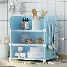 SANCXF Küchenregal 3 Etagen Bodenständig,