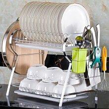SANCXF Küchenregal Doppelschicht Bodenständig,
