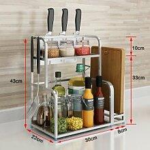 SANCXF Küchenregal Zwei Schichten Zuhause,